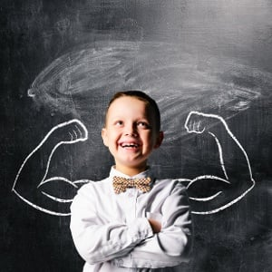 Boy with Chalk Muscles