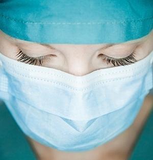 Female nurse face