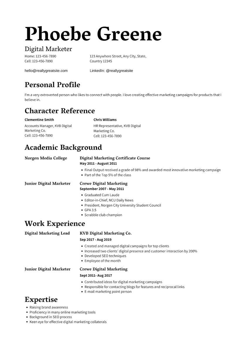 Resume Blog
