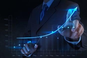 businessman hand touch 3d virtual chart business-1
