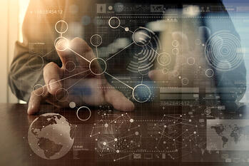 businessman hand working with modern technology and digital layer effect as business strategy concept-4