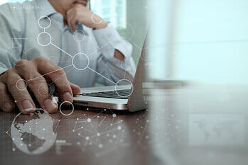 businessman hand working with modern technology and digital layer effect as business strategy concept-5