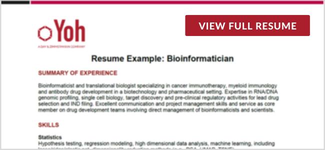 Bioinformatician Preview Image